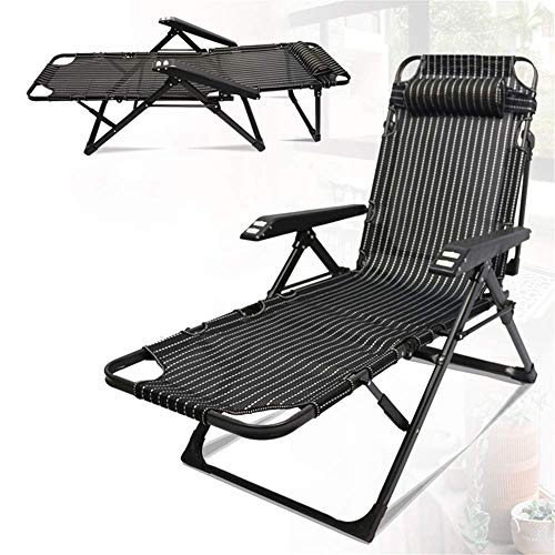 Piezas mecánicas Tumbona plegable Sillón reclinable reclinable para exterior Sillón de playa plegable portátil Oficina Siesta Patio al aire libre Tumbonas Sillas reclinables (Color: como se muestra