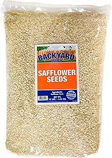 Backyard Seeds Safflower Bird Seed for Cardinals 10 Pounds