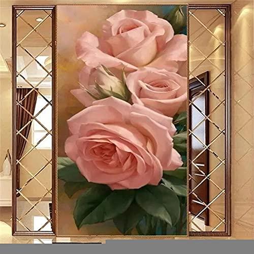 DIY 5D Grande Pintura Diamante Rosa rosada Kits,Diamond Painting Full Drill,Crystal Rhinestone bordado fotos arte Craft para la decoración del hogar 80x220cm Square Drill