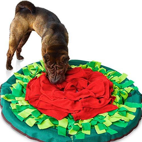 Sniffiz SmellyMatty Snuffle Mat for Dogs – Interactive Food IQ Enrichment Toy (Large Nosework Blanket) - Mind STIMULATING Games with Stress Relief for Boredom (Snuffle Mat Only)