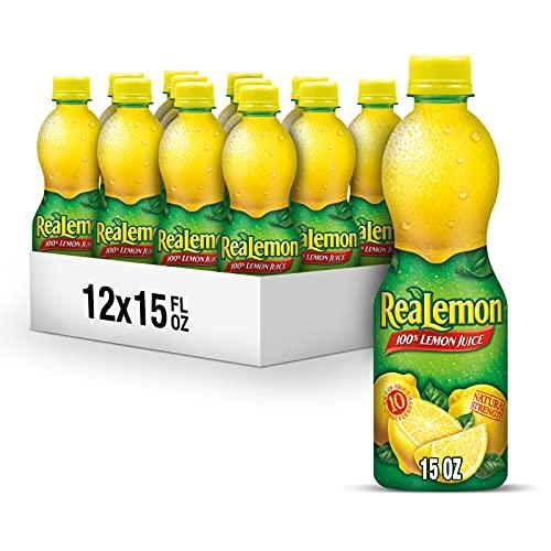 ReaLemon 100 percent Lemon Juice, 15 fl oz bottles (Pack of 12)
