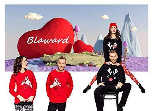 Blaward Ciervos de vacaciones de Navidad a juego con la familia Sudaderas Conjuntos de suéteres para mamá Papá...