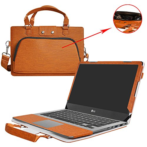 Inspiron 15 5570 Hülle,2 in 1 Spezielles Design eine PU Leder Schutzhülle + portable Laptoptasche für 15.6
