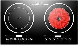 OUKANING 4400 W - Double plaque à induction électrique - 2 brûleurs - 8 vitesses - Puissance de feu : 220 V (Stil-1)