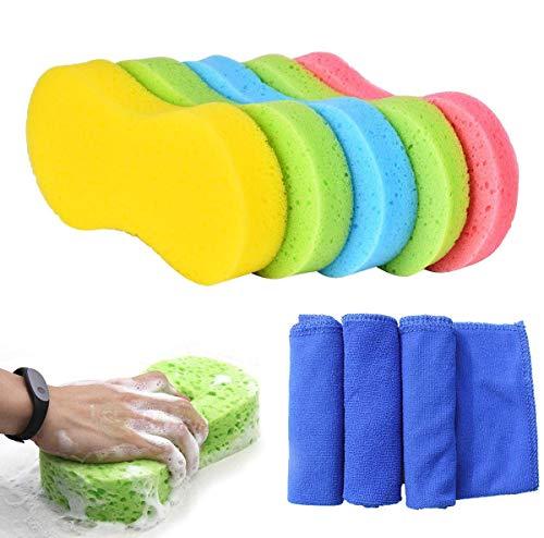 Esponjas para vehículos,5 Piezas esponjas de Limpieza de au