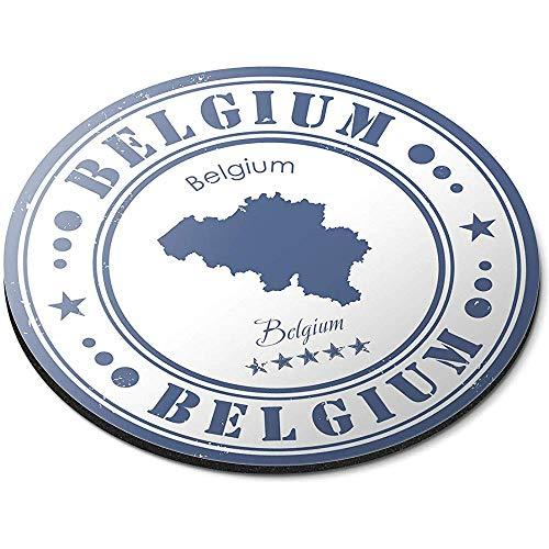 Ronde muismat - België Kaart Brussel Reizen EU Europa Kantoor Gift