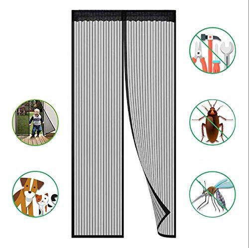AIKES Magnetic Mosquito Net Door Mosquito Curtain Magnetic Rideau Mosquito Net Magnetic Curtain for Balcony Door Mosquito Net for Doors,Black-110 * 220cm