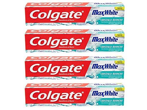 Colgate Dentifricio Max White - 4 pezzi da 75 ml