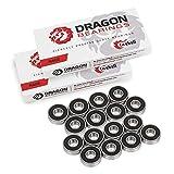 Fireball Dragon Precision Bearings for Skateboards, Longboards, Inline Skates, Roller Skates, Spinners (608 Bearing) Race 16-Pack