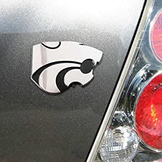Elektroplate Kansas State University Wildcats Powercat NCAA College Chrome Plated Premium Metal Car Truck Motorcycle Emblem