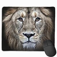 ライオンヘッドキング マウスパッド 光学マウス 滑り止め超極細繊維 洗える ファッション ゲーム Pcマウスパッド オフィス 耐久性 25x30cm