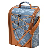 National Outdoor Living Blue Camouflage Wine Tote Cooler Bag