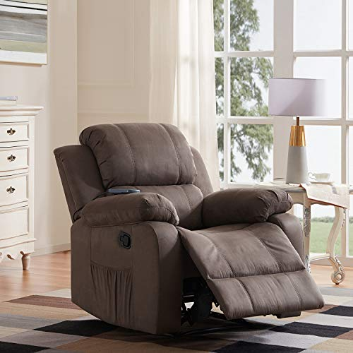 Massage Recliner Chair Heated Ergonomic Lounge Recliner Sofa Chair with 8 Vibration Motors