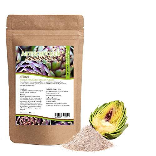 Mynatura Artischocken Extrakt Pulver I Artischocke I Gemahlen I 2,5% Cynarin I Hochwertige Pflanzenstoffe I Schonend verarbeitet (2x 100g)