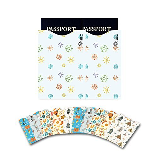 Credit Card Sleeves, I3C Credit Card Protector Passport Sleeve Anti-Theft RFID Blocking Credit Card & Passport Holder Protector Sleeves (10 Credit Card, 2 Passport, 12-Pack)