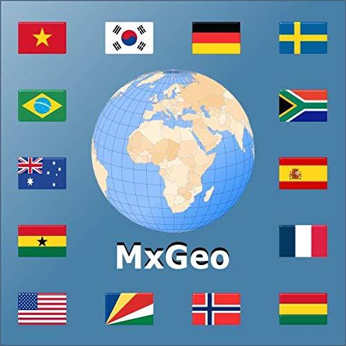 Atlas mundial | Mapa do mundo | Léxico do país MxGeo Pro