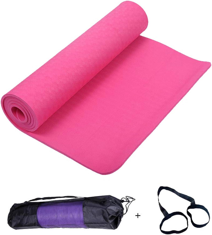 Pilates Yoga Matte,Sicherheit Rutschfest Material TPE Hautfreundliche Phthalatfreie Fitnessmatte Premium Yogamatte Trainingsmatte Gymnastik,Sehr Weich Schneller Rückprall(183cm61cm6mm)