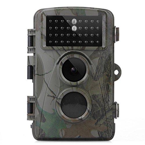 "TEC.BEAN Trailkamera Outdoor Kamera, HD 12MP 1080P 120 Grad Weitwinkel Infrarot Nachtsicht, 2,4\"" LCD Display, wasserdichte IP66 Wild Wald Innovation Kamera (DB0921)"