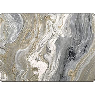 4 Cala Home Premium Hardboard Placemats Table Mats, Quartz