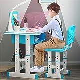 Kacsoo Juego de sillas de Escritorio, Juego de sillas de Escritorio para niños, Ajustable en Altura, para niños, Escuela,...