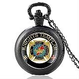 SWAOOS Caballeros Templarios En Hoc Signo Vinces Cruz Corona Vidrio Cabujón Cuarzo Reloj De Bolsillo Retro Hombres Mujeres Colgante Collar Cadena Reloj