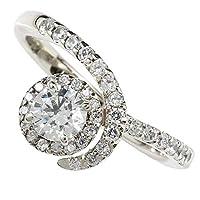 鑑定書付き ダイヤモンドリング ホワイトゴールドk18 エンゲージリング 婚約指輪 VSクラス 0.30ct 取り巻き レディース 8