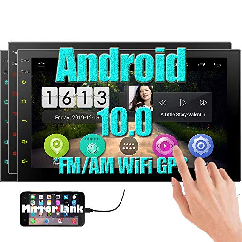 EINCAR Android 10.0 Double Din Car Stereo Autoradio Bluetooth System 7 INCH 2 Din Head Unit GPS Navigation In Dash 1080p Video Audio Player Support WiFi USB SD Mirrorlink Capacitive Touchscreen