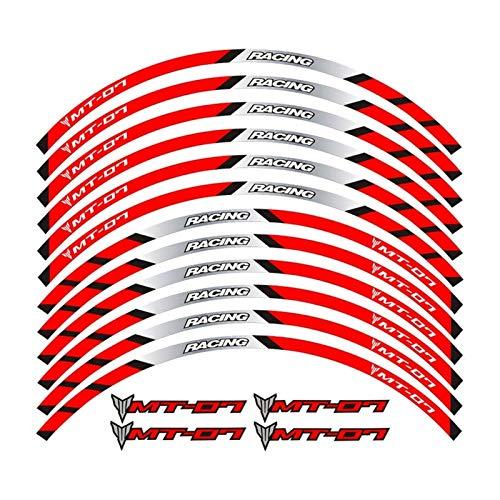 Aufkleber Hochwertige Motorräder Reflektierende Aufkleber for Motorräder Radaufkleber for Tracer 700 900 850 MT07 MT09 MT-07 MT-09 (Color : 3)