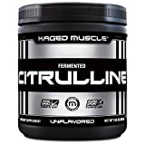 Kaged Muscle Premium L-Citrulline Powder, Enhance Muscle Pumps, Improve Muscle Vascularity, Nitric Oxide Booster, Citrulline, Unflavored, 100 Servings, white, 7.05 ounce (pack of 1) (KM-CITP-200)