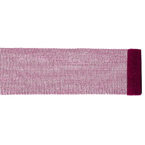 Vickerman Extra Wide Mesh Magenta Tinsel Ribbon