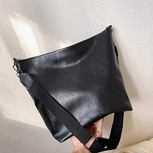 PJY Crossbody Tassen Voor Vrouwen Pu Lederen Handtassen Vrouwen Tas Grote Capaciteit shopper Schoudertas Reizen Messenger Tas, Zwart