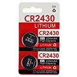 CR2430 2430 Battery Key Fob Remote (2-Pack)