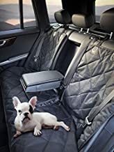 FETCHPLANET Dog Seat Cover Back Seat- Dogs Car Seat Covers- Waterproof Pet Bench Seat Covers - Nonslip and Armrest Compati...
