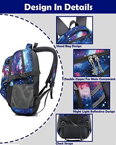 Galaxy print backpack _image0