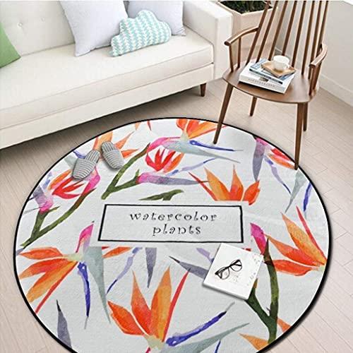 FGDSA Bereich Teppich Runder Teppich, Schlafzimmer Wohnzimmer Sofa Couchtisch Otto Earth Matte Yogamatte Runder Decke Teppich (Color : #4, Size : 80 * 80Cm)