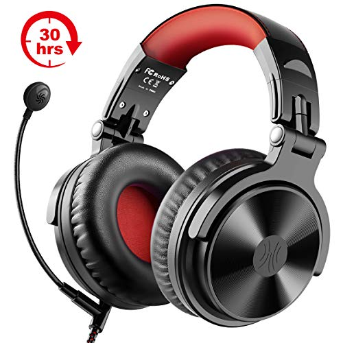 Bluetooth Kopfhörer Wireless OneOdio Over Ear Kopfhörer Kabellos mit 30 Stunden Spielzeit On Ear Headphones mit Surround Sound Wired Gaming Headset mit Boom Mikrofon für PC PS4 Xbox One Smartphone