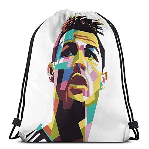 AOOEDM Cr7 Art Sport Sackpack Drawstring Backpack Gym Bag Sack