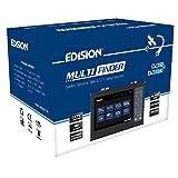 EDISION 07-01-0101 - Medidor de señal satélite (DVB-S/S2, Cable terrestre DVB-T/T2, señales DVB-C H.265/HEVC y comprobador CCTV), Color Negro