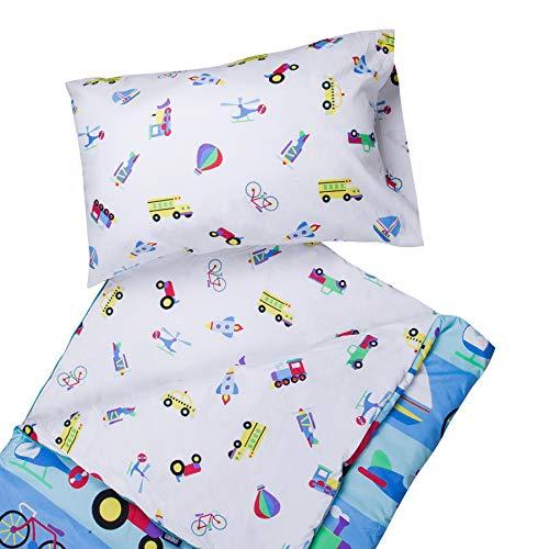 Wildkin Los niños de Microfibra Saco de Dormir para niños y niñas, Incluye Funda de Almohada y Cosas Saco, tamaño Pijamas Partes, los Patrones coordenada con Nuestras Bolsos de Tela