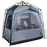 FOFANA All Weather Pod Sports Tent - Largest Sports Pod Pop Up Tent for Up to 4 People - Pop Up Pod for Rain Wind Cold Bugs - Bubble Tent with Clear and Mesh Windows - Weather Pods for Sports