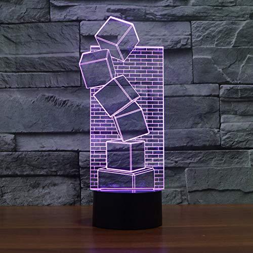 3D LED afstandsbediening touchscreen lamp illusie kleurrijke cool stijl nacht licht romantisch vakantie leuk creatieve gadgets kerstcadeau