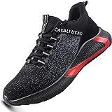 Ucayali Zapatos de Seguridad Hombre Trabajo Zapatillas Trabajar Verano Ligeros Transpirables Calzado de Seguridad Comodos Deportivo Punta de Acero(017 Negro, 43 EU)