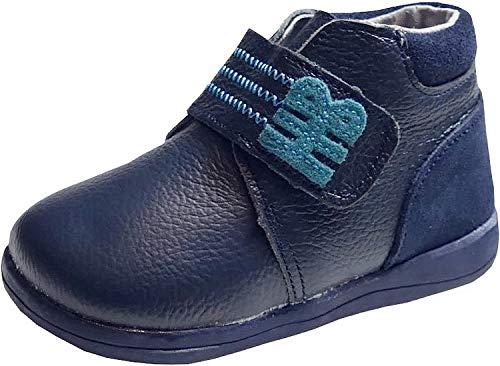 gibra® Lauflernschuhe aus Leder, für Babys und Kleinkinder, Art. 0647, mit Klettverschluss, dunkelblau, Gr. 20