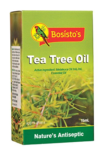 Bosisto's Tea Tree Oil 15mL | Essential Oils, Natural Melaleuca Oil, Natural Tea Tree Oil, Natural Antiseptic, Antibacterial, Deodoriser, Treats & Prevents Infections from Acne, Abrasions, Insect Bites, Foot Care, Gentle on Skin, Australian Owned