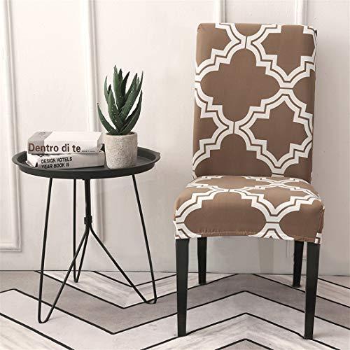 ELETAB 1 2 4 6 fundas de silla de spandex para bodas, comedores, extensible, silla elástica para oficina, banquete, 8 unidades