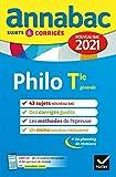 Annales du bac Annabac 2021 Philosophie Tle générale: sujets & corrigés nouveau bac