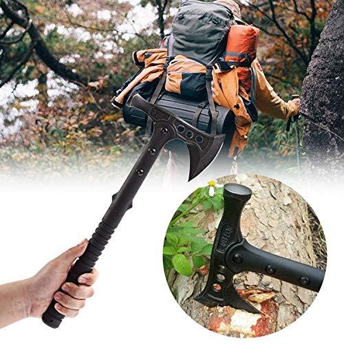 VIKING GEAR® Tomahawk mit Hammer - M48 Combat VALHALL Edition - Axt - Beil - Hatchet - Messer, schwarz