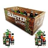 Männer-Kräutergarten | witziges Geschenk mit Alkohol | 8x Kräuter-Likör für Männer und Frauen...