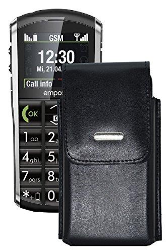 Vertikal Etui für / Emporia PURE / Köcher Tasche Hülle Ledertasche Vertical Hülle Handytasche mit einer Gürtelschlaufe auf der Rückseite