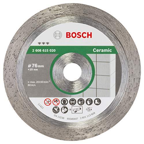 Bosch Professional Diamanttrennscheibe Best for Ceramic (für Keramik, Ø 76 mm, Bohrungs-Ø: 10 mm, Zubehör Winkelschleifer)